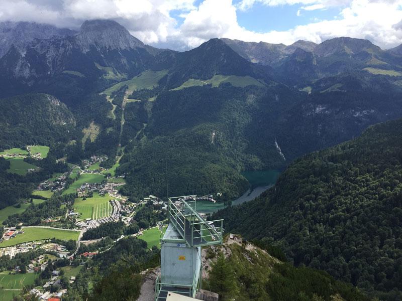 Gruenstein Klettersteigausgang